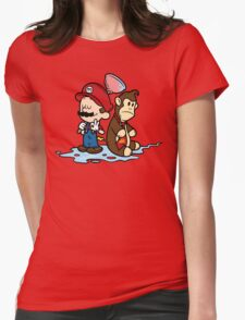 Mario and Kong Womens Fitted T-Shirt