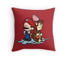 Mario and Kong Throw Pillow