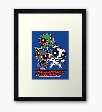 The Powerpuft Ghouls Framed Print
