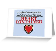 Lousy Heart Container Greeting Card