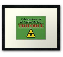 Lousy Triforce Framed Print