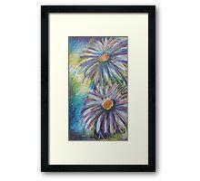 Oil Flowers Framed Print