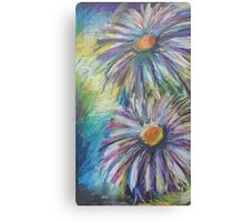 Oil Flowers Canvas Print