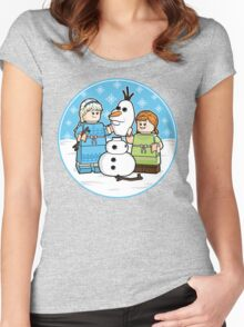 Want to Build a Snowman? Women's Fitted Scoop T-Shirt