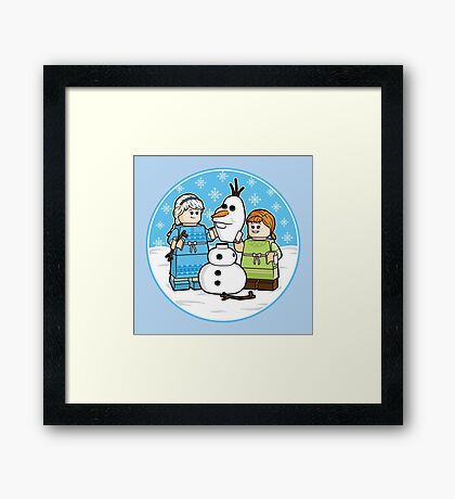 Want to Build a Snowman? Framed Print