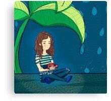LadyBug Girl Canvas Print