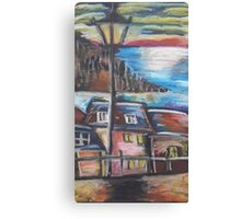 Oil Beachside Canvas Print