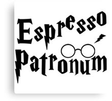 Espresso Patronum Potter Head Canvas Print