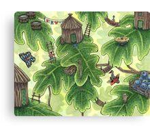Little Leaf Village Canvas Print