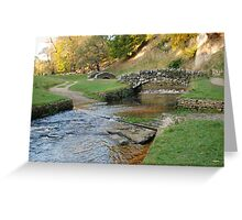Studley Royal - valley of the seven bridges Greeting Card