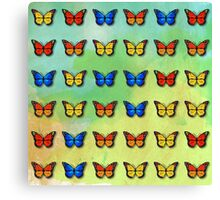 Butterflies pattern Canvas Print