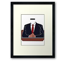 Mr. Prèsident Framed Print