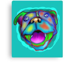 acrylic happy pit bull Canvas Print
