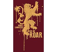 House Lannister Game of Thrones Shirt Photographic Print