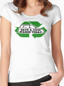 Save A Civic Wagon Women's Fitted Scoop T-Shirt