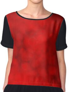 Bright red defocused lights background Chiffon Top
