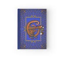 Letter E Squirrel Book Page Hardcover Journal