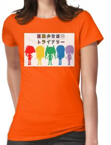 Augmented Reality Girls Trinary *Colour Silhouette* Womens Fitted T-Shirt