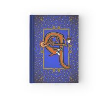 Letter Q Squirrel Book page Hardcover Journal