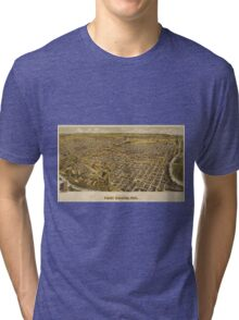 Vintage Pictorial Map of Fort Worth TX (1891) Tri-blend T-Shirt