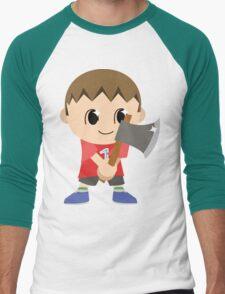 Chibi Animal Crossing Villager Vector Men's Baseball ¾ T-Shirt