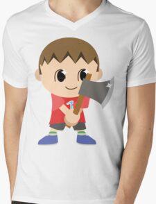Chibi Animal Crossing Villager Vector Mens V-Neck T-Shirt
