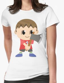 Chibi Animal Crossing Villager Vector Womens Fitted T-Shirt