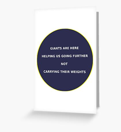 Science - Giants Greeting Card