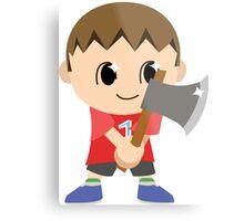 Chibi Animal Crossing Villager Vector Metal Print