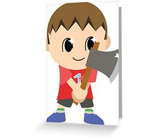 Chibi Animal Crossing Villager Vector Greeting Card