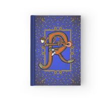 Letter R Squirrel book page Hardcover Journal
