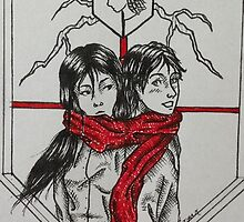 Red Scarf of Fate by blackcat-tora