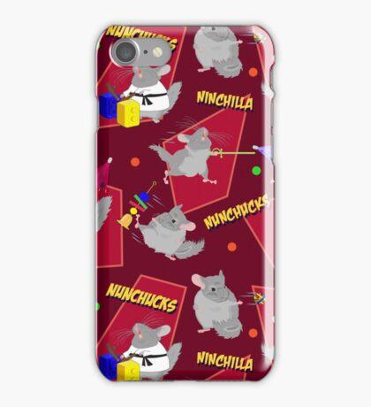 NinChilla Nunchucks In Cranberry iPhone Case/Skin