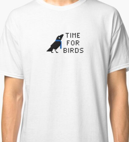 Time For Birds Pixel Logo Classic T-Shirt