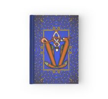 Letter V Squirrel Book page Hardcover Journal