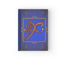 Letter X Squirrel book page Hardcover Journal