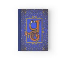 Letter Y Squirrel Book Page Hardcover Journal