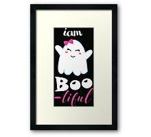 boo little monster halloween Framed Print