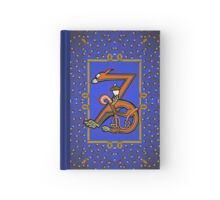 Letter Z Squirrel Book page Hardcover Journal