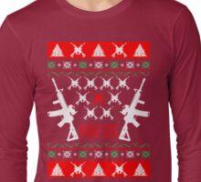 Ar 15 ar15 ugly christmas sweater Long Sleeve T-Shirt