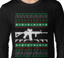 Ar 15 ar15 ugly christmas sweater xmas Long Sleeve T-Shirt