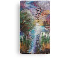 Oil Ocean Canvas Print