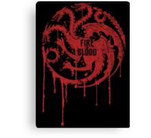 Targaryen House Game of thrones Shirt Canvas Print