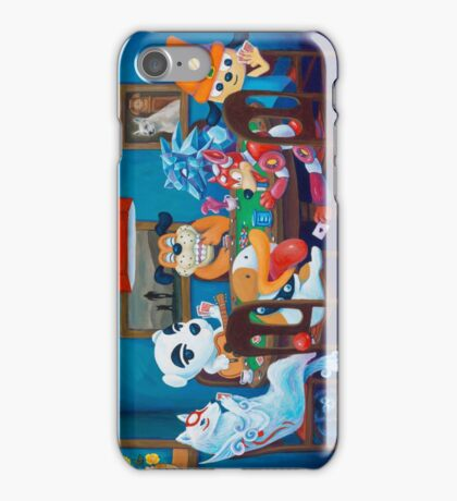 Video Game Dogs Playing Poker iPhone Case/Skin