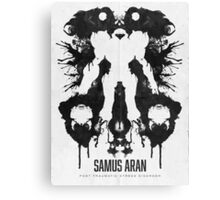 Samus Aran Metroid Geek Ink Blot Test Canvas Print