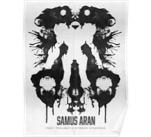 Samus Aran Metroid Geek Ink Blot Test Poster