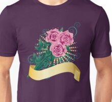 Pink Roses with Ribbon Unisex T-Shirt