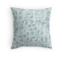 Pale blue Beautiful grass.  Throw Pillow