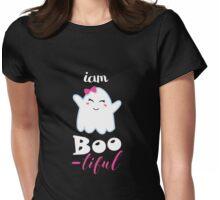 boo little monster halloween Womens Fitted T-Shirt