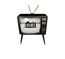 Idiot Box Photographic Print